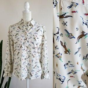 VTG Chaus Woodland Animals Button-up Shirt